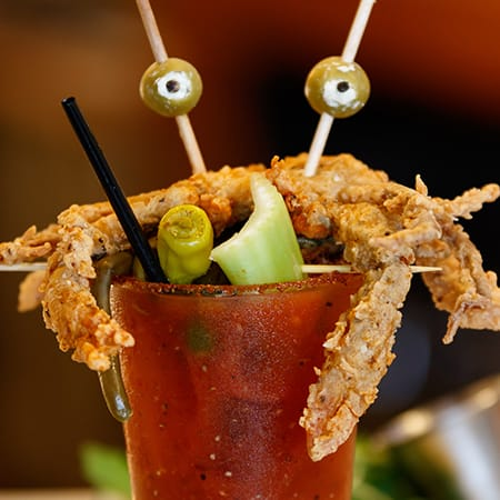 soft-shell crab Bloody Mary
